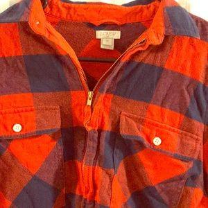 J crew half zip flannel